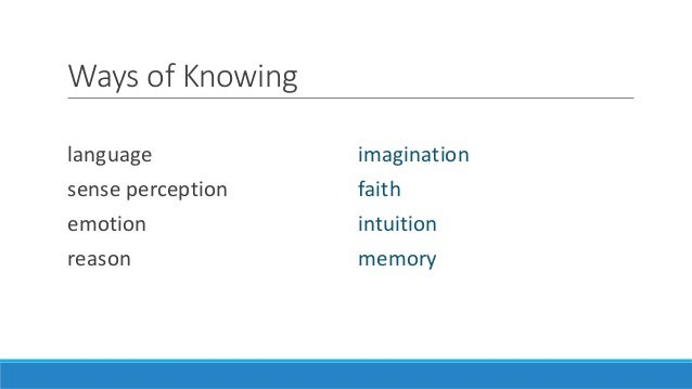 theory of knowledge 2014 Hoong juan ru st joseph's institution international candidate number 003400-0001 date: april 25, 2014 theory of knowledge essay word count: 1,595 words (excluding.