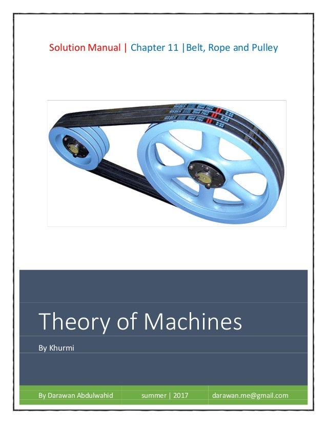 7965491054b5 Theory of machines by rs. khurmi  solution manual   chapter 11