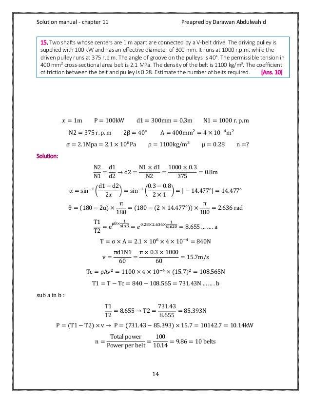 Machine design by rs khurmi pdf solution manual
