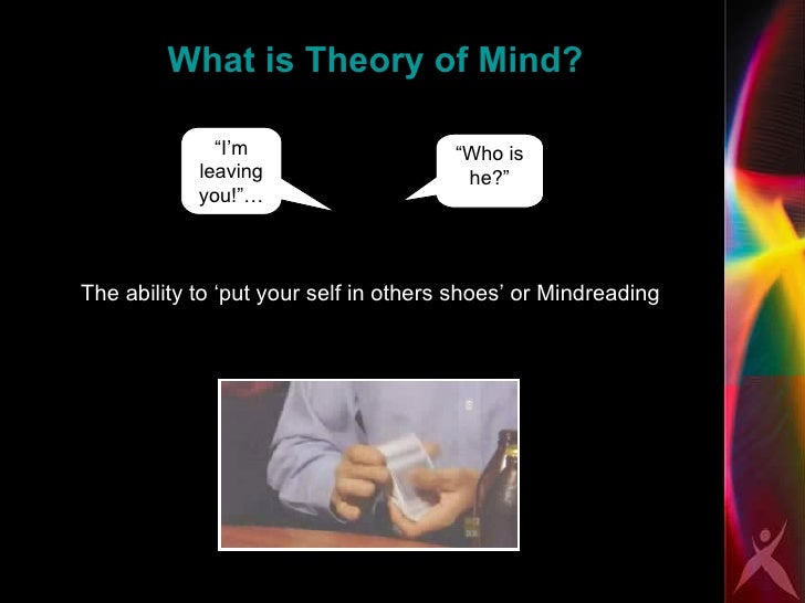 mindblindness an essay on autism and theory of mind Mindblindness: an essay on autism and theory of mind an essay on autism and theory of mind http relationships and mindblindness in men with.