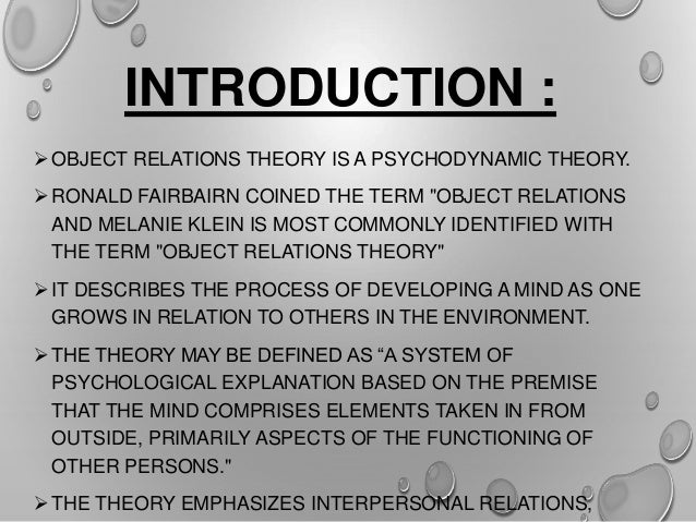 Theory of object relation