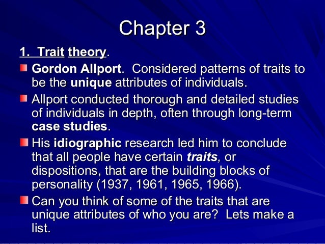 concept of personality Personality traits function as causal concepts laura m kressel , james s  uleman department of psychology, new york university, united.