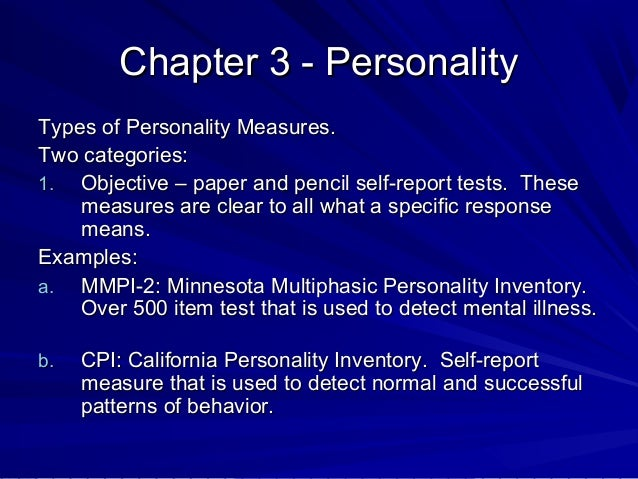 Development of the Minnesota Multiphasic Personality Inventory Essay Sample