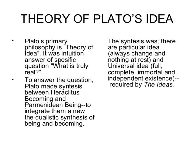 explain plato s theory of the realm