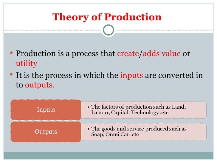 theory of production wikipedia