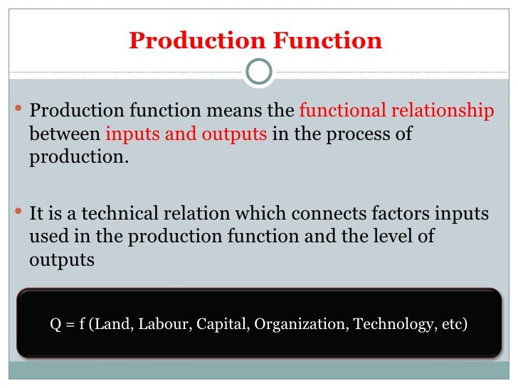 Theory of Production Slide 3