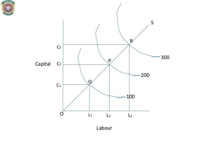 L2 C1 C2 L1 C3 L3 P Q R S O 100 200 300 Capital Labour