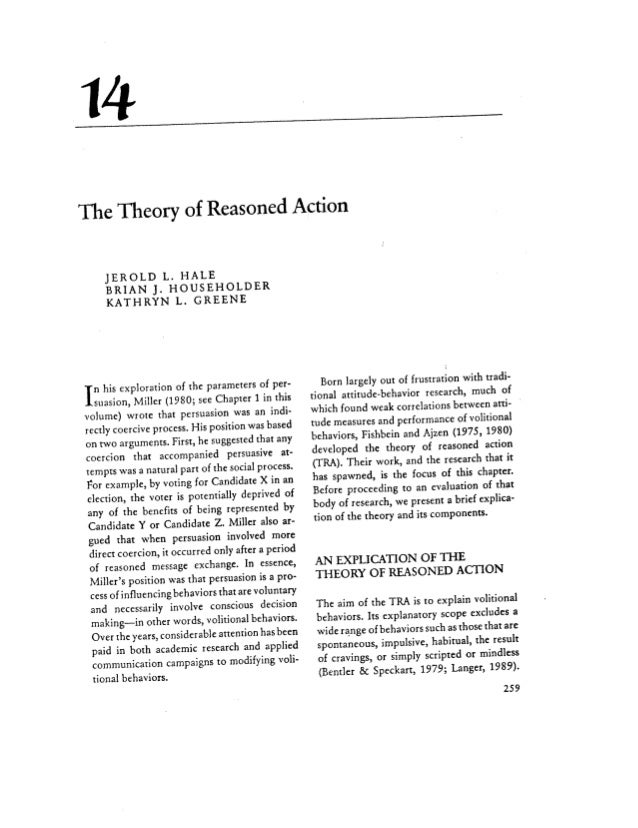 The theory of reasoned action its application to aids