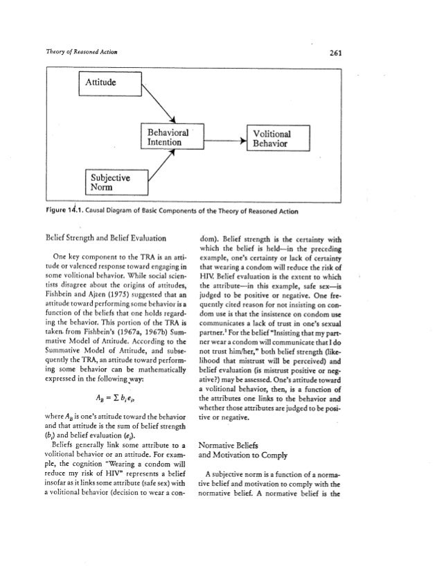 theory of reasoned action essay This chapter will deals with survey of literature review in the area of online purchase intention and perceived risk and its determinants this section will.