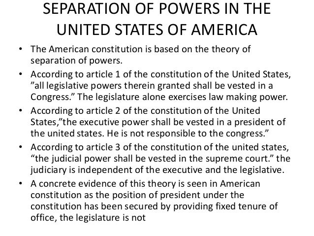 the separation of powers doctrine essay  · the separation of powers doctrine public law, the separation of powers doctrine is now firmly established in the uk constitution and no further reform is.