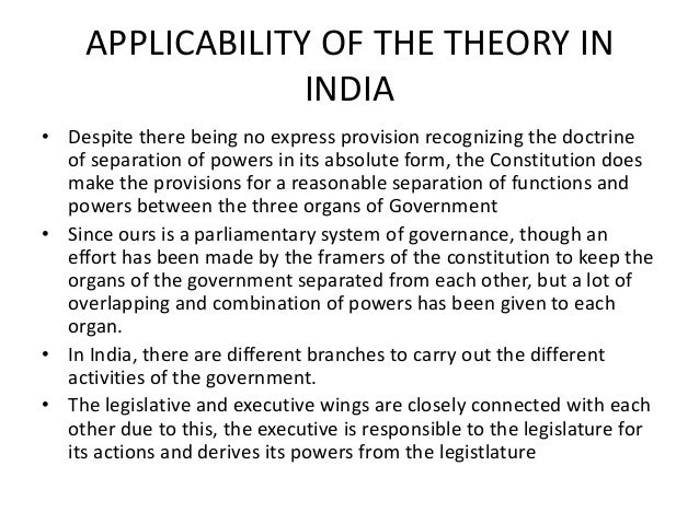 separation of powers in india