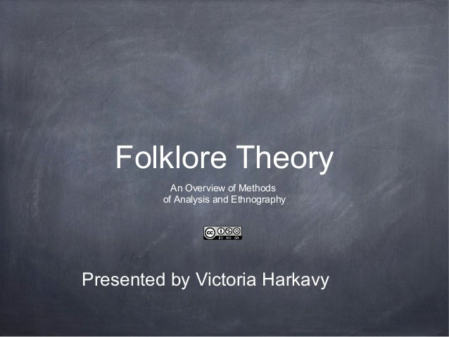 Folklore TheoryAn Overview of Methodsof Analysis and EthnographyPresented by Victoria Harkavy
