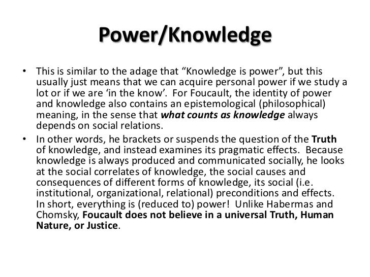 Foucault- Truth and Power Essay