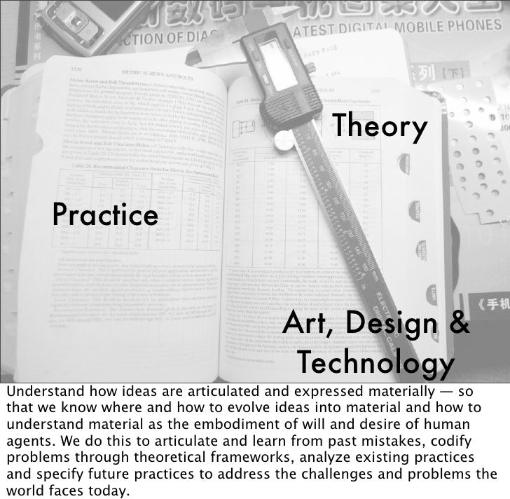 Theory        Practice                                          Art, Design &                                         Tech...