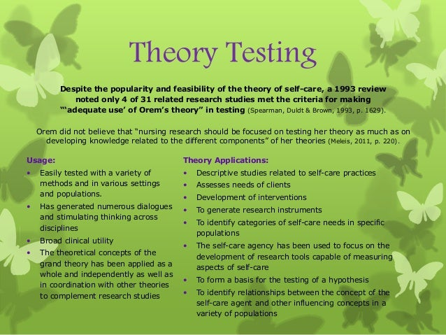 research paper nursing theory The purpose of this guide is to provide advice on how to develop and organize a research paper in the that can hold or support a theory of a research.