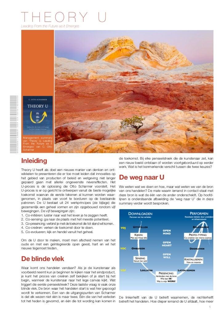 Management summary door eva van Wijngaarden   THEORY U                                              Leading From the Futur...