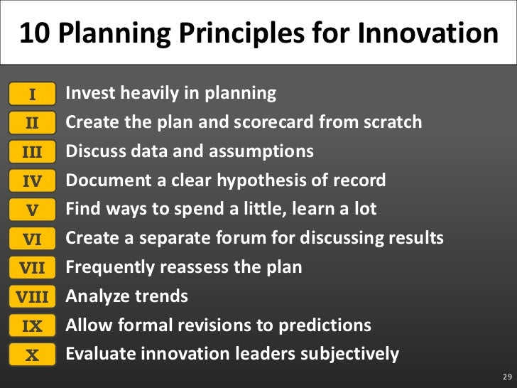 Invest heavily in planning<br />Create the plan and scorecard from scratch<br />Discuss data and assumptions<br />Document...
