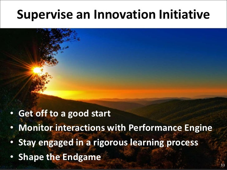 Get off to a good start<br />Monitor interactions with Performance Engine<br />Stay engaged in a rigorous learning process...