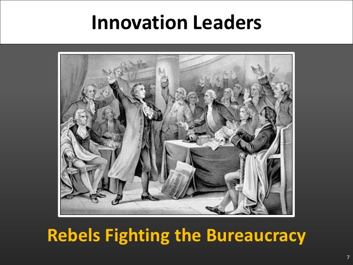 Rebels Fighting the Bureaucracy<br />7<br />Innovation Leaders<br />