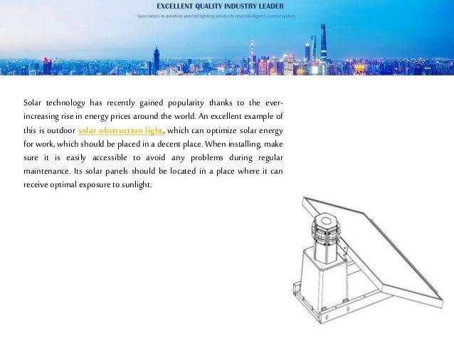 The outdoor solar obstruction light Slide 2