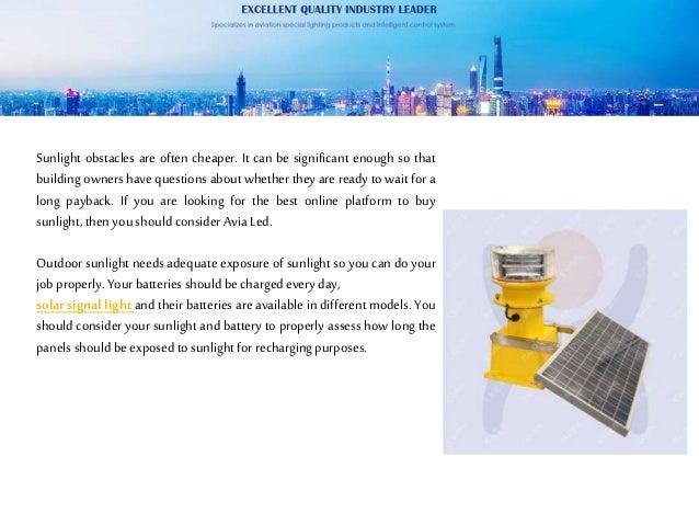 The outdoor solar obstruction light Slide 3