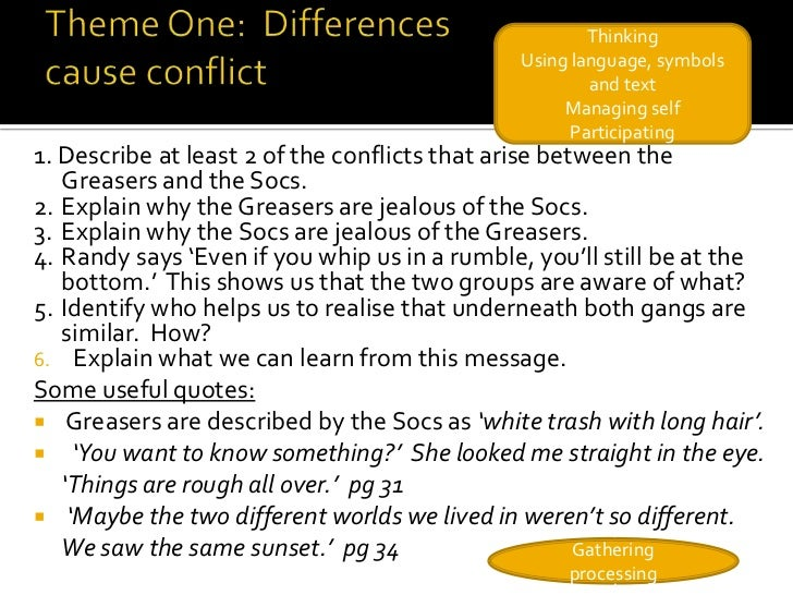 COMPARE AND CONTRAST ESSAY THE OUTSIDERS PLEASE HELP ME?