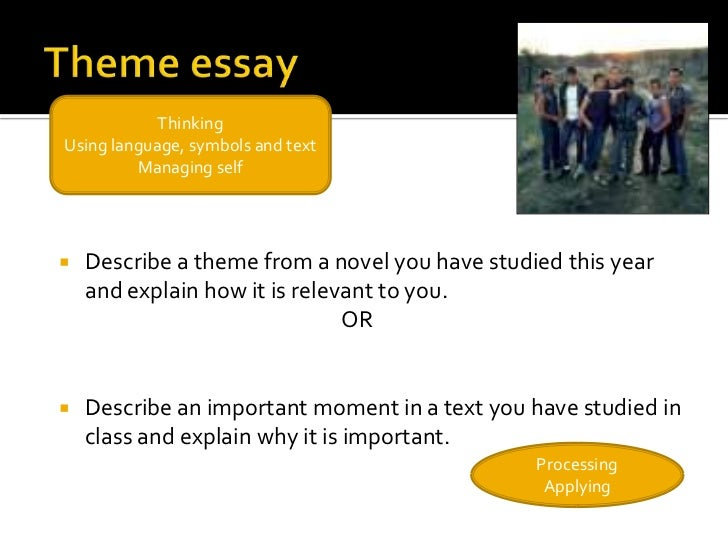 outsiders theme essay Open document below is an essay on theme of the outsiders from anti essays, your source for research papers, essays, and term paper examples.