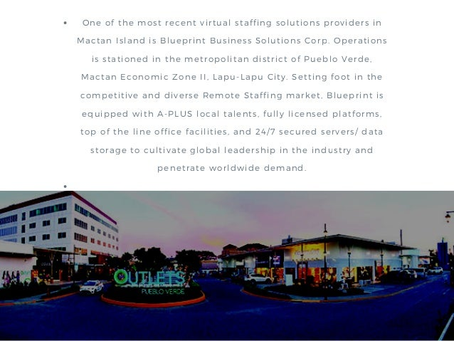 The outsourcing boom in mactan island philippines 5 one of the most recent virtual staffing solutions providers in mactan island is blueprint business solutions corp malvernweather Images