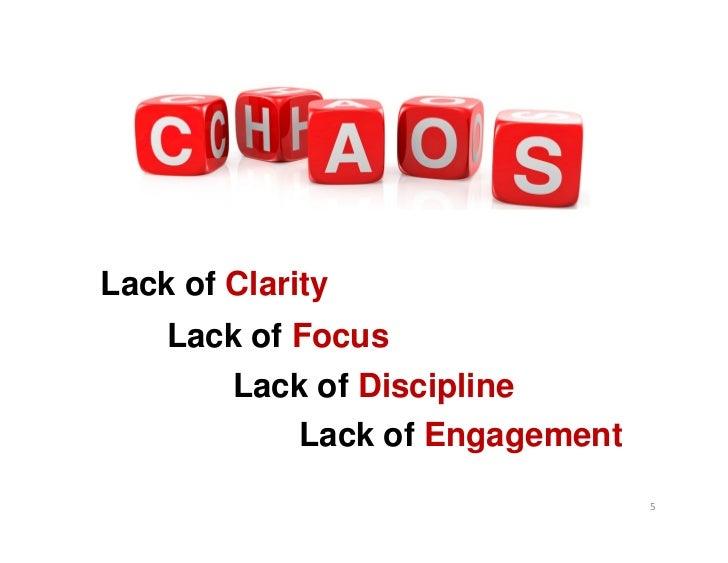 Lack of Clarity    Lack of Focus       Lack of Discipline            Lack of Engagement                                 5
