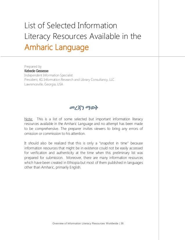Overview Of Information Literacy Resources Worldwide UNESCO - Worldwide languages list
