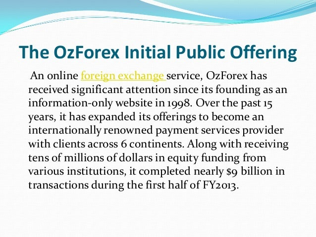 Investor Centre   OFX:ASX OzForex Group Limited