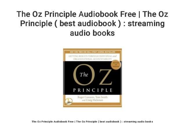 The Oz Principle Audiobook Free The Oz Principle Best Audiobook