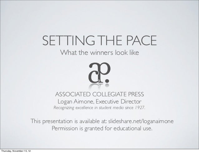 SETTING THE PACE                                    What the winners look like                                  ASSOCIATED...
