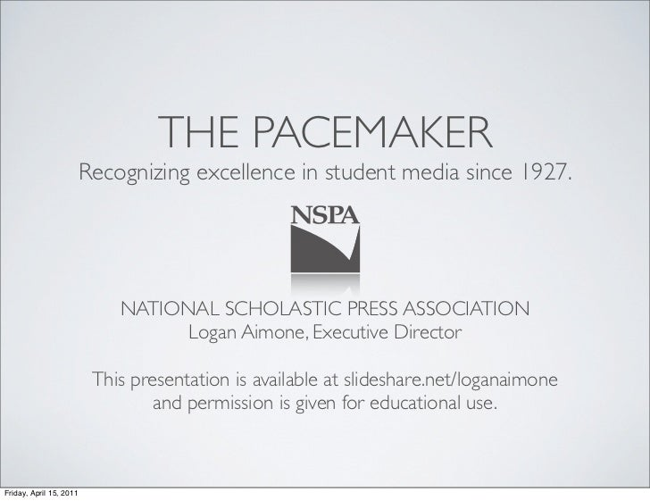 THE PACEMAKER                         Recognizing excellence in student media since 1927.                             NATI...