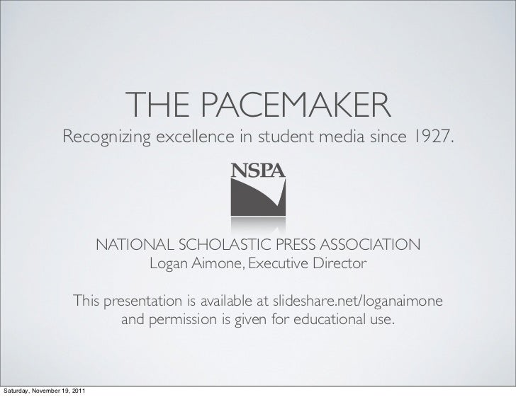 THE PACEMAKER                   Recognizing excellence in student media since 1927.                              NATIONAL ...