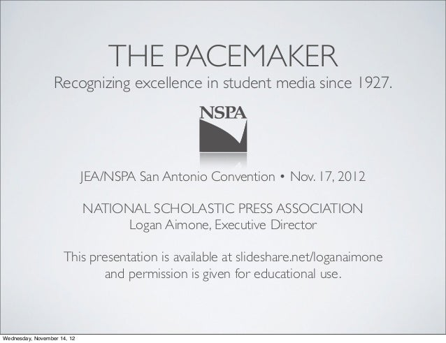 THE PACEMAKER                  Recognizing excellence in student media since 1927.                             JEA/NSPA Sa...