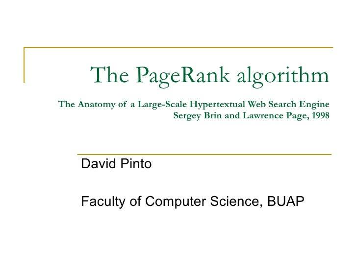 The pagerankalgorithm