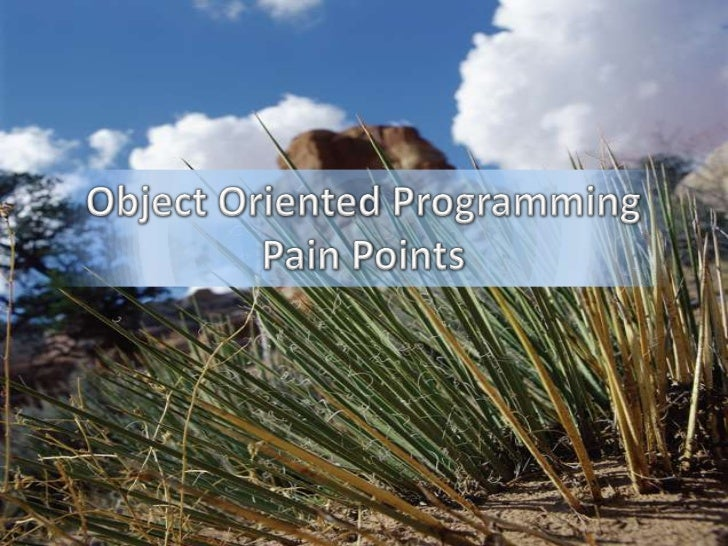 Object Oriented Programming Pain Points<br />