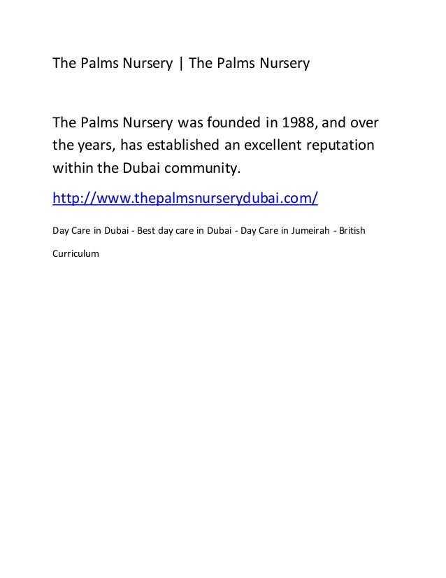 The Palms Nursery | The Palms Nursery The Palms Nursery was founded in 1988, and over the years, has established an excell...