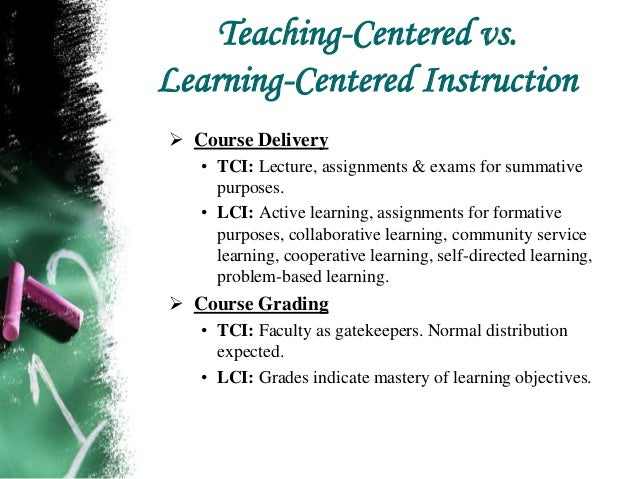 what is student centered instruction