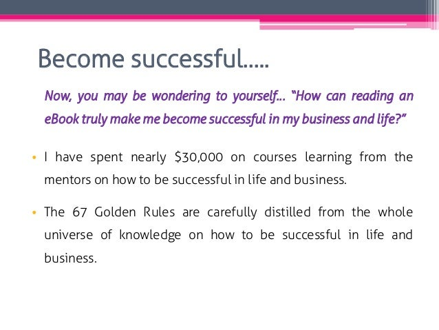 """Become successful….. Now, you may be wondering to yourself… """"How can reading an eBook truly make me become successful in m..."""