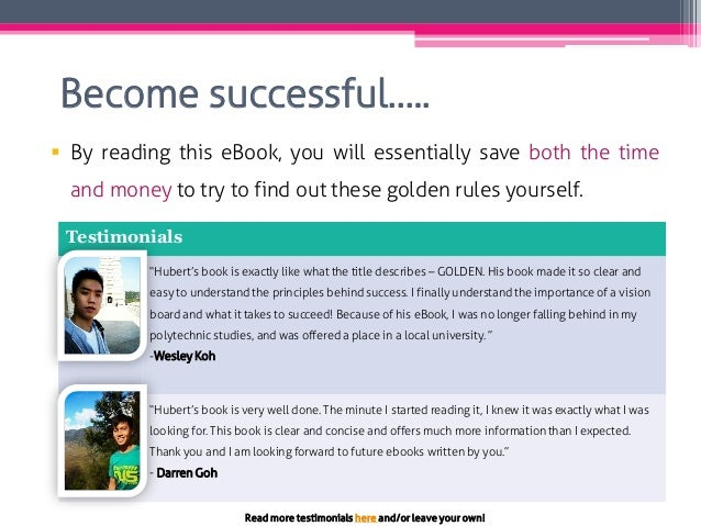 Become successful…..  By reading this eBook, you will essentially save both the time and money to try to find out these g...