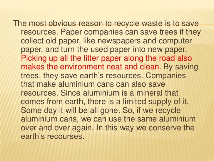 the importance of trees essay