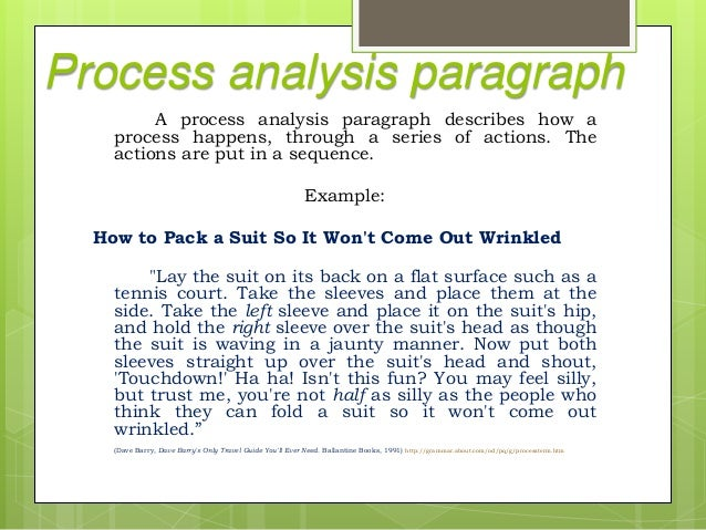 analytical paragraph