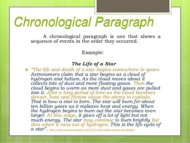 Chronological Paragraphs