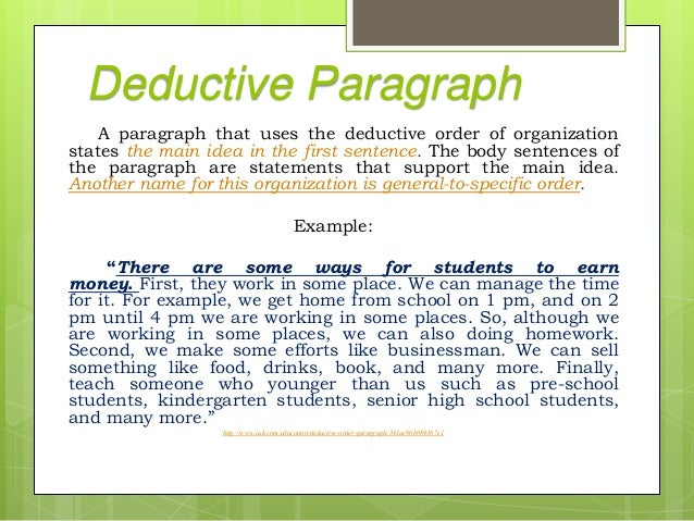 example of deductive argument paragraph