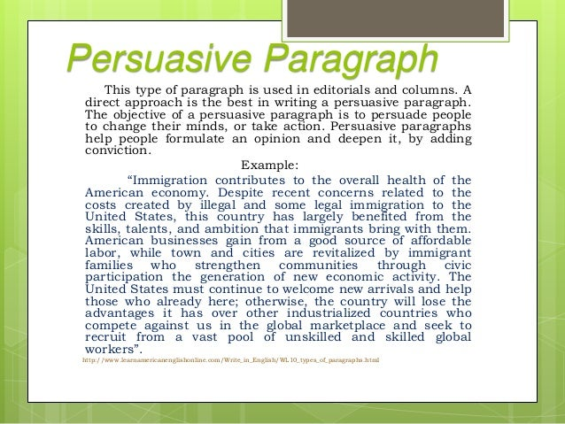 10 kinds of paragraph