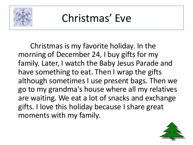 Christmas eve essay
