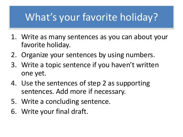 Write a paragraph about holiday