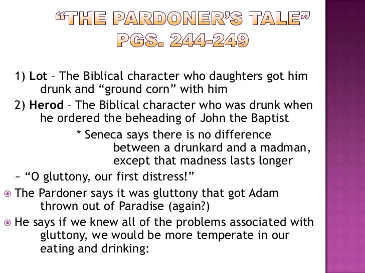 the pardoners prologue and tale abuse Home a level and ib english literature themes in the pardoner's tale themes in the pardoner's avarice and the abuse of power notes on the pardoners.
